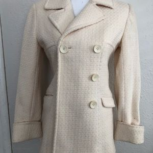 Moda International Winter Pea Coat Overcoat Sz Sm